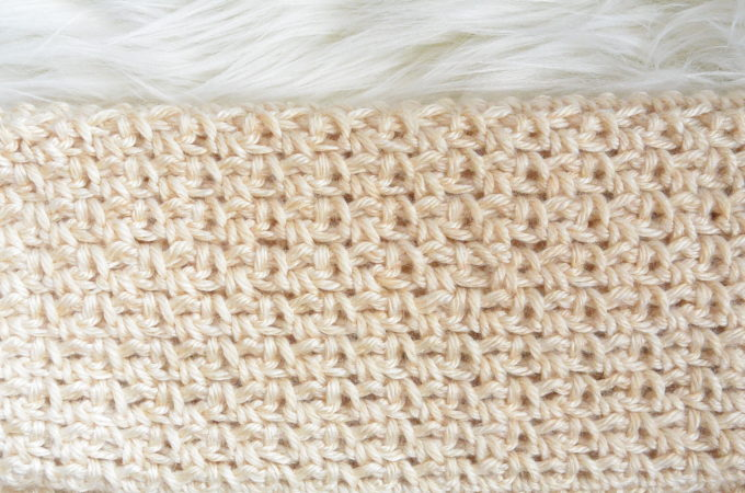 How To Crochet the Granite or Moss Stitch