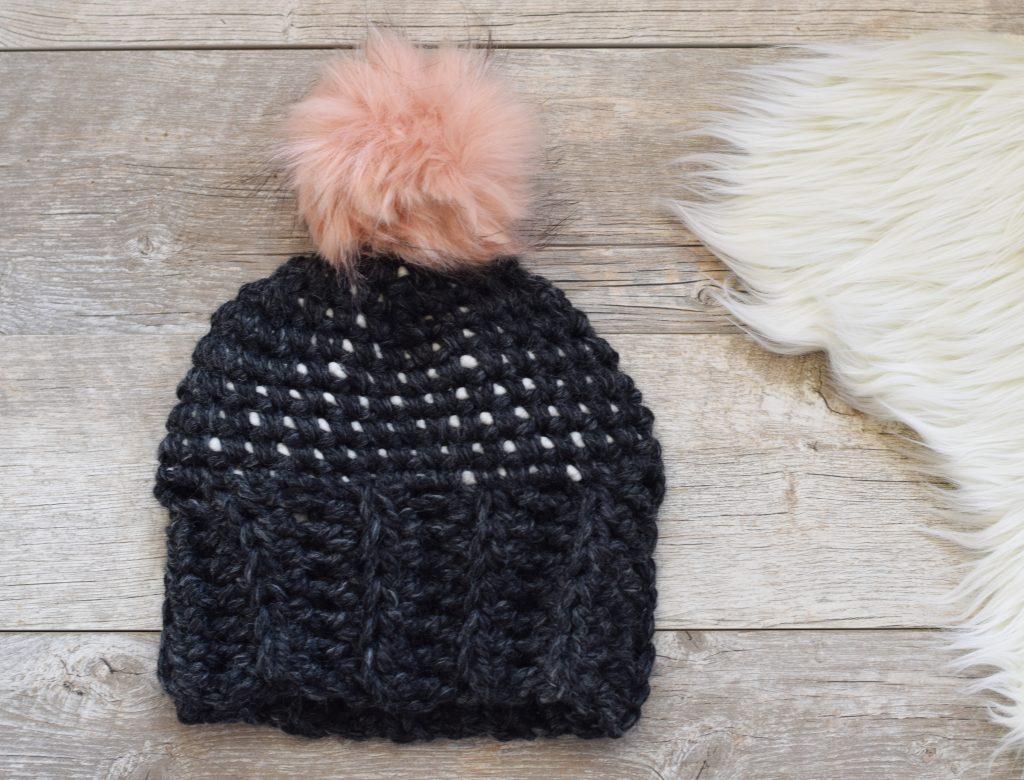 easy-chunky-free-crochet-dots-hat-pattern-2