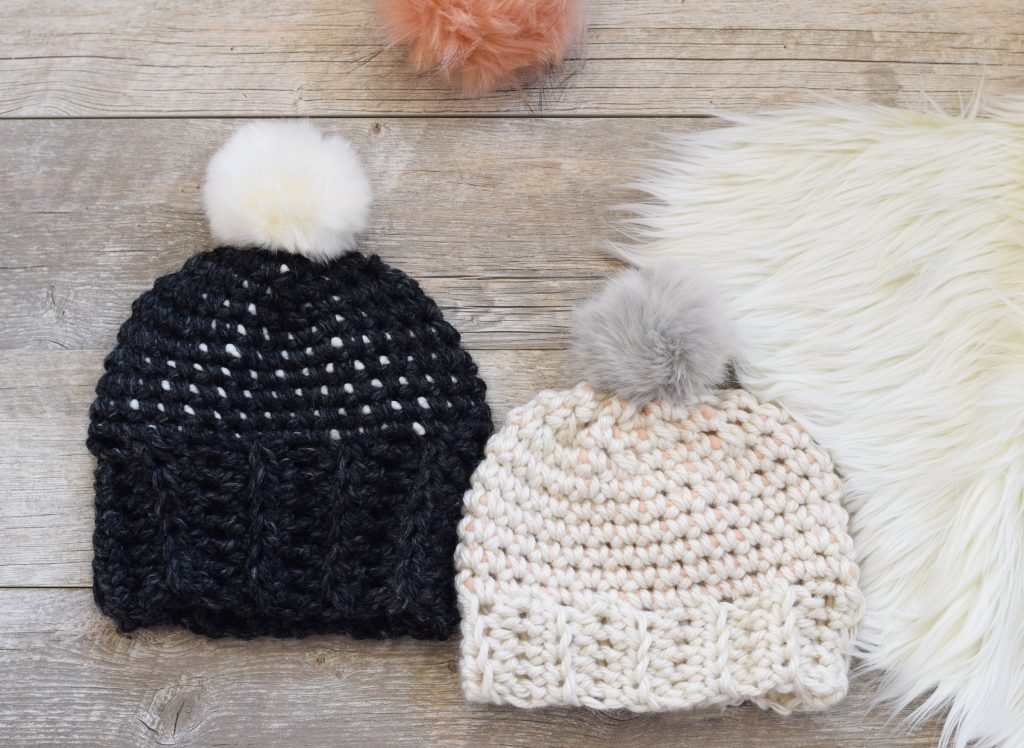 easy-chunky-free-crochet-dots-hat-pattern-3