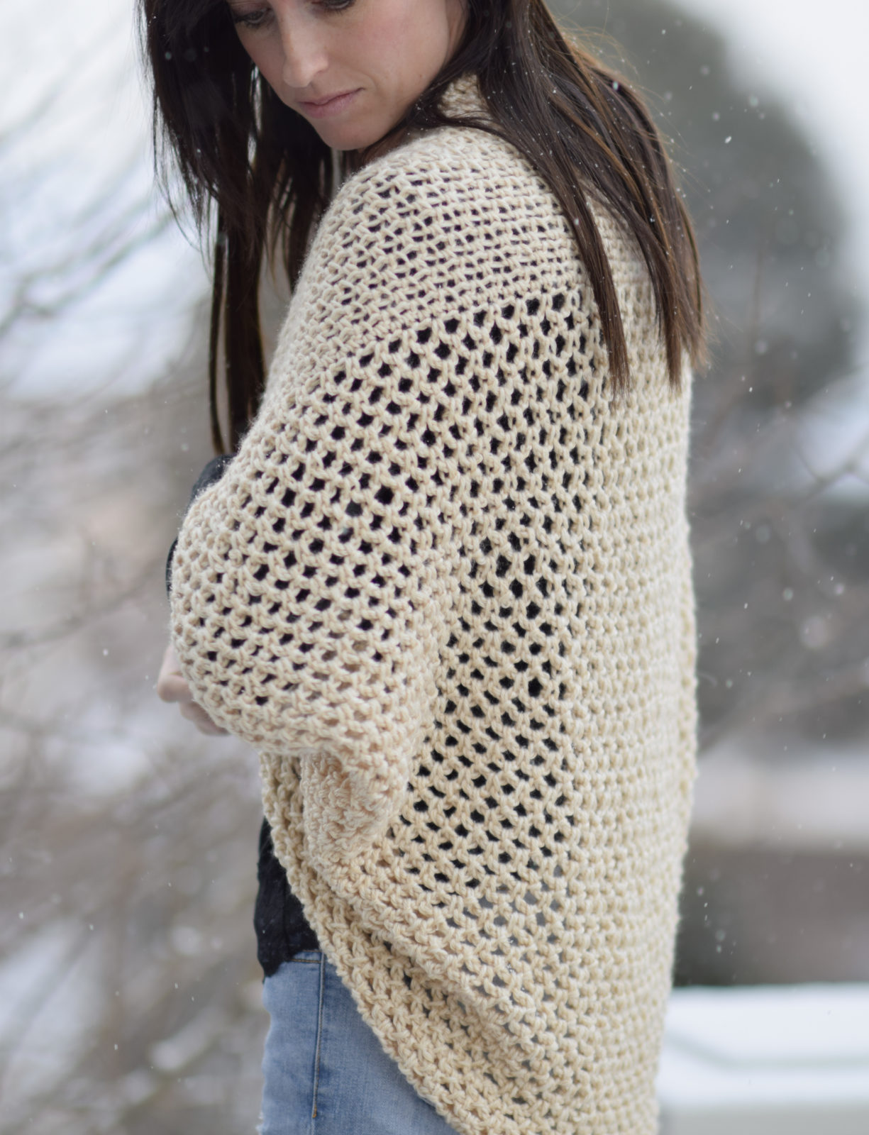 Mod Mesh Honey Blanket Sweater Mama In A Stitch