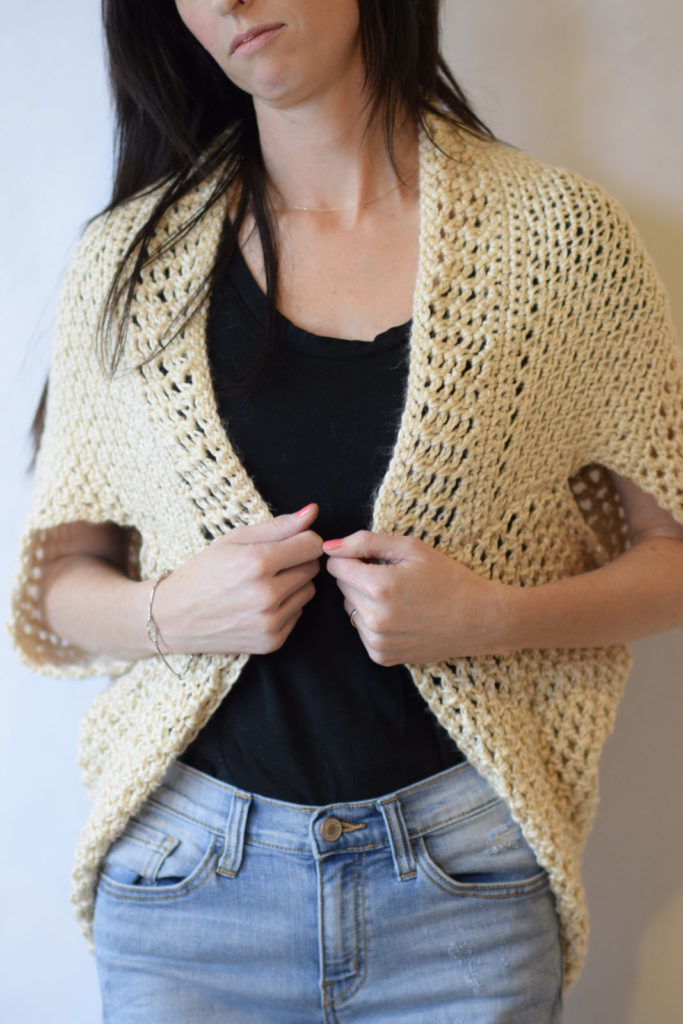 Crochet X-Stitch Shrug Free Pattern : ... mix of textures really make the stitch work pop, don?t you think