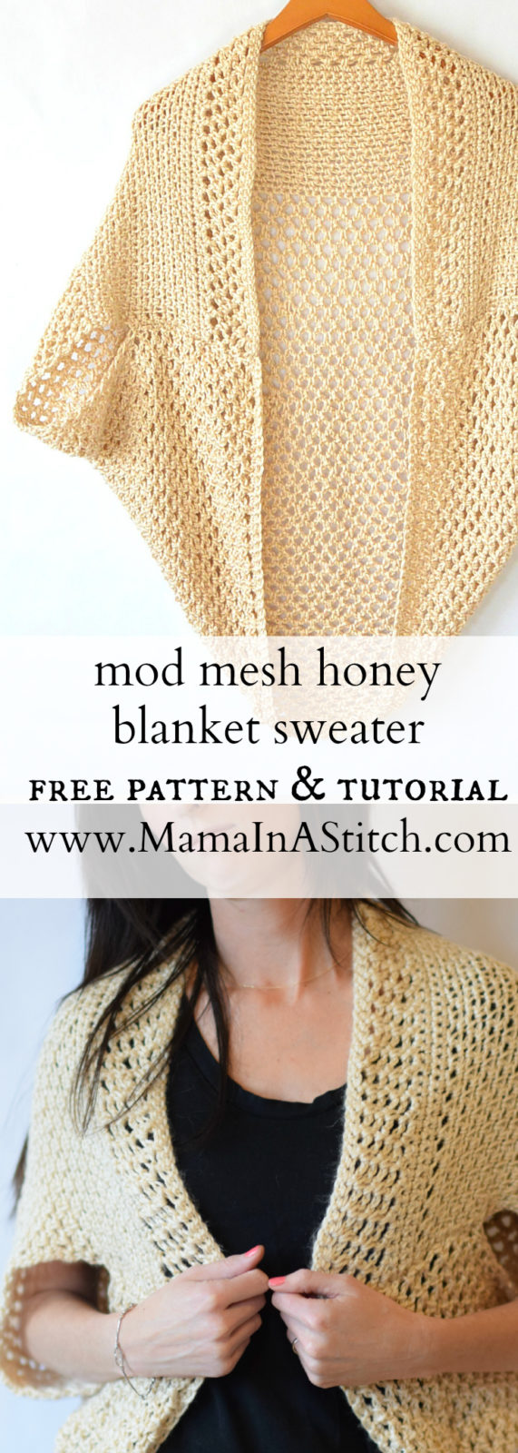 Mod Mesh Honey Blanket Sweater – Mama In A Stitch