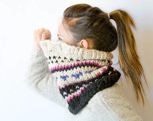 Alpine Heights Knit Fair Isle Cowl