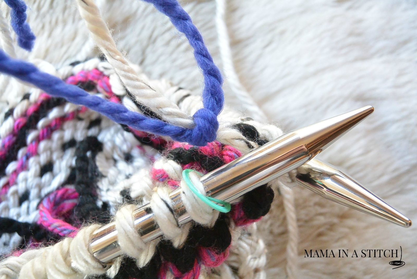 Alpine Heights Knit Fair Isle Cowl – Mama In A Stitch