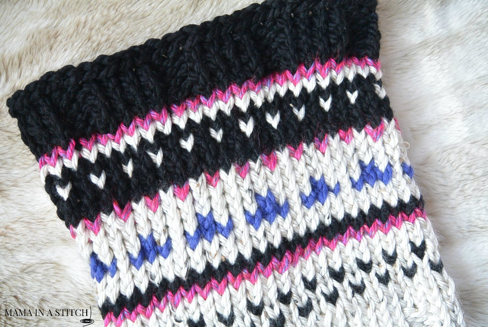Fair Isle Knitting In The Round : Alpine heights knit fair isle cowl mama in a stitch