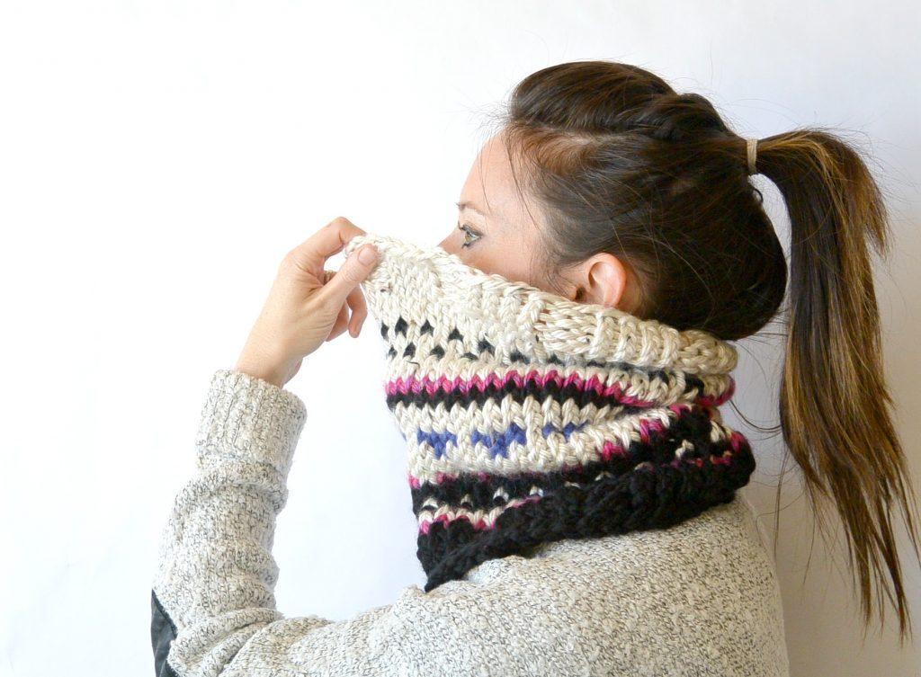 fair-isle-knit-cowl-worn-mama-in-a-stitch