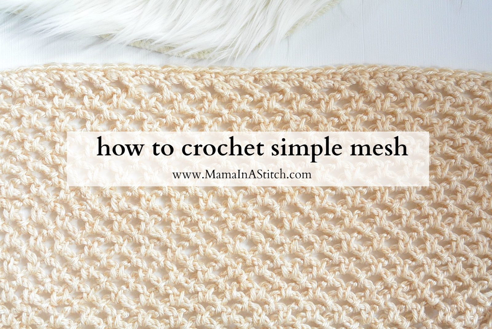 How To Crochet An Easy Mesh Stitch Easy Knit Blanket Sweater Pattern '� Mama  In