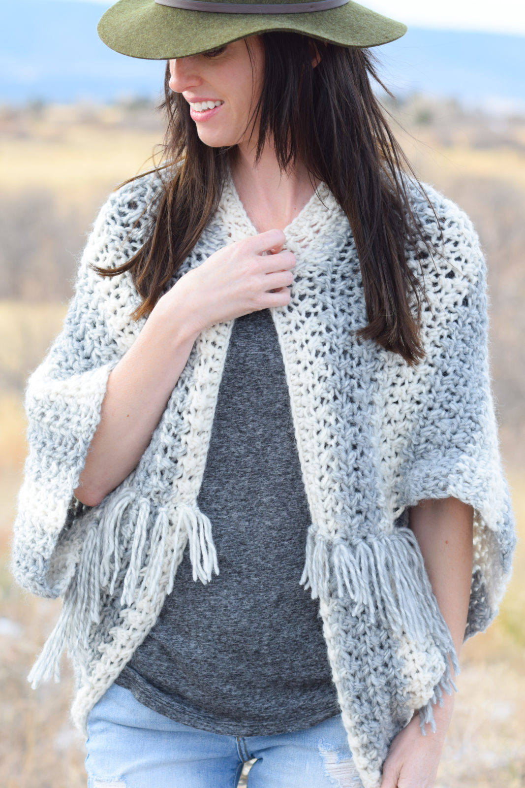 Light Frost Easy Blanket Sweater Crochet Pattern Mama