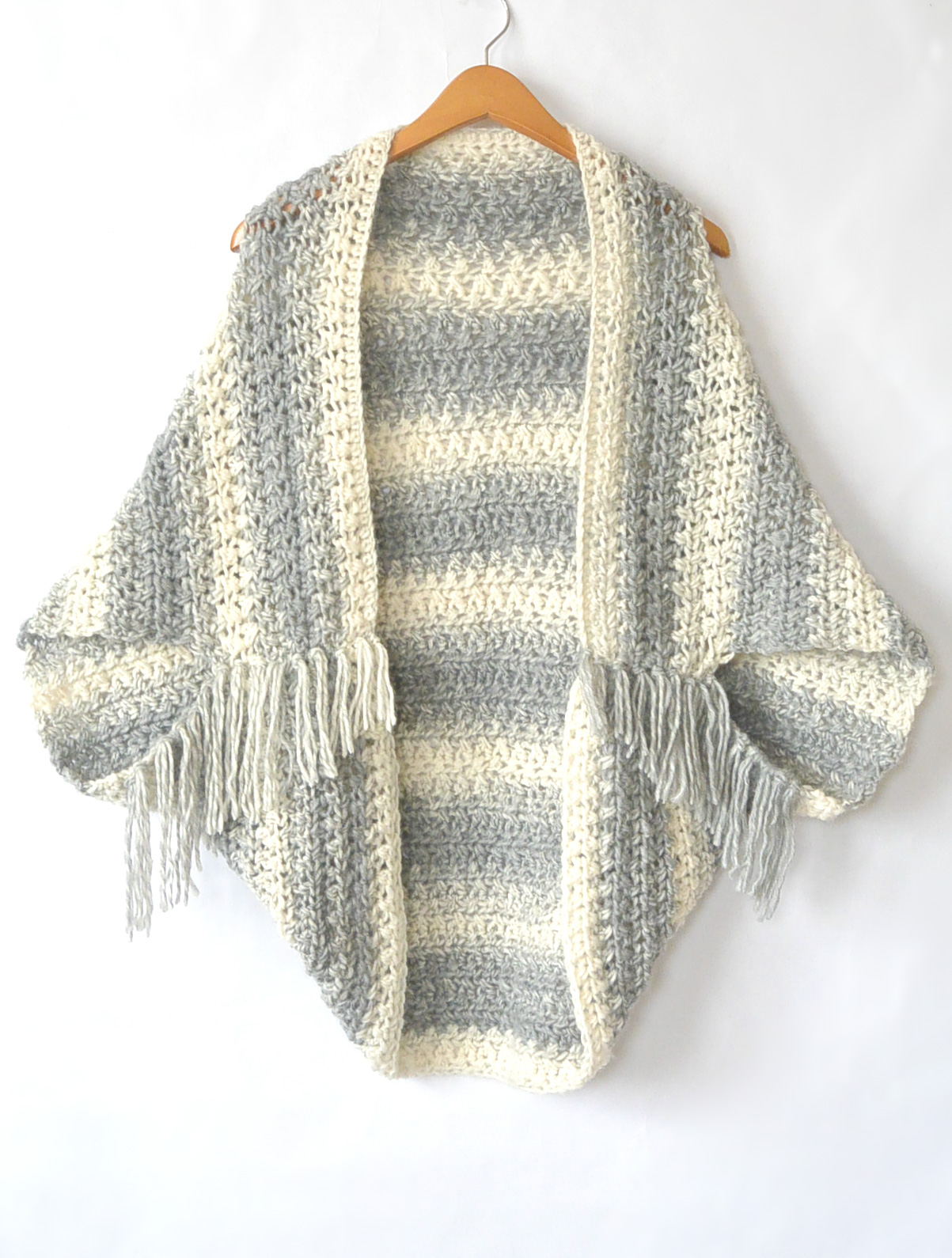 Easy Knitting Pattern For Sweater : Light Frost Easy Blanket Sweater Crochet Pattern   Mama In A Stitch