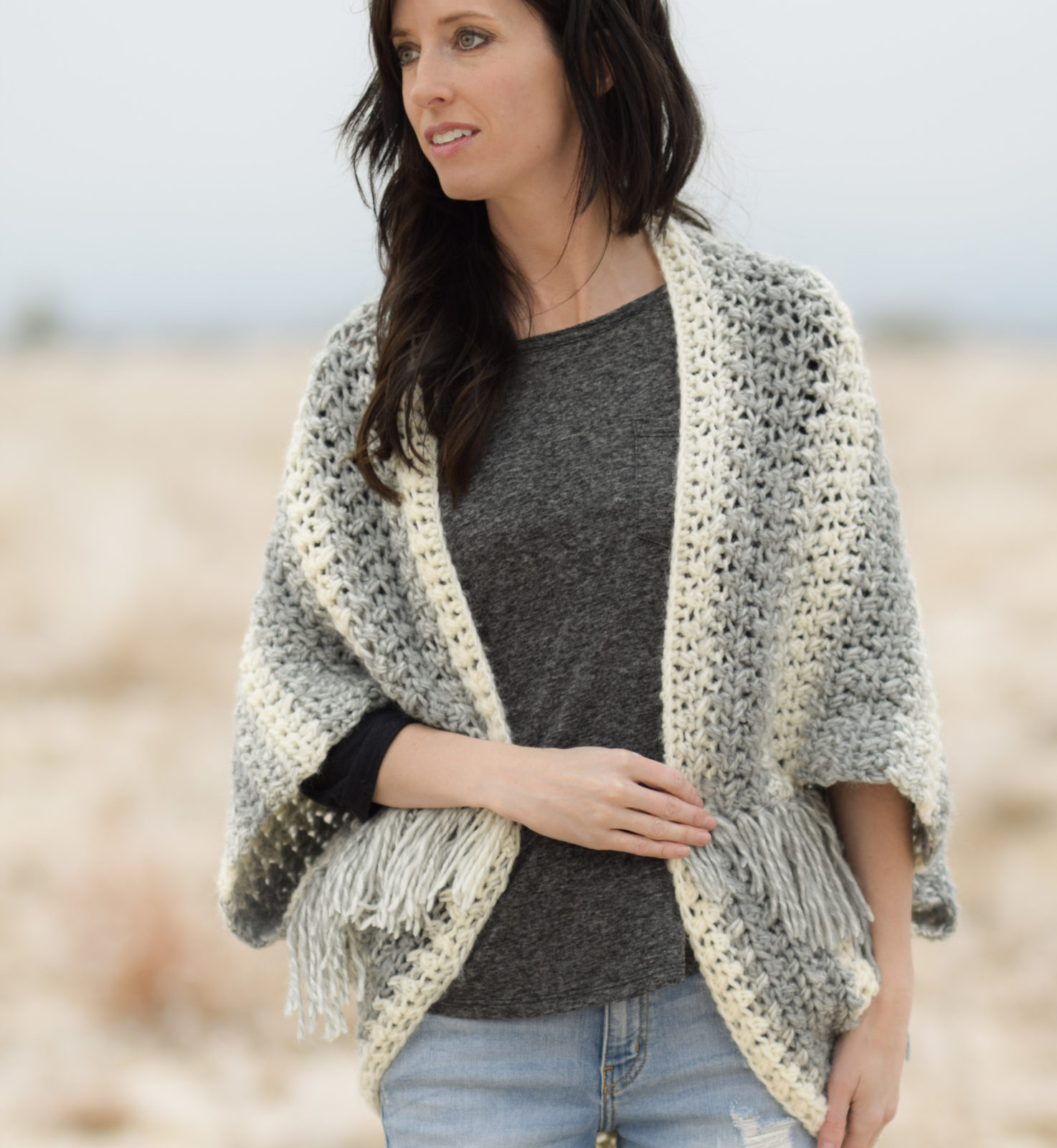 2dea4203e78162 Light Frost Easy Blanket Sweater Crochet Pattern – Mama In A Stitch