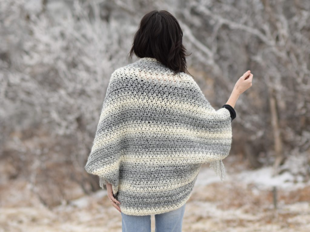 Light Frost Easy Blanket Sweater Crochet Pattern   Mama In ...