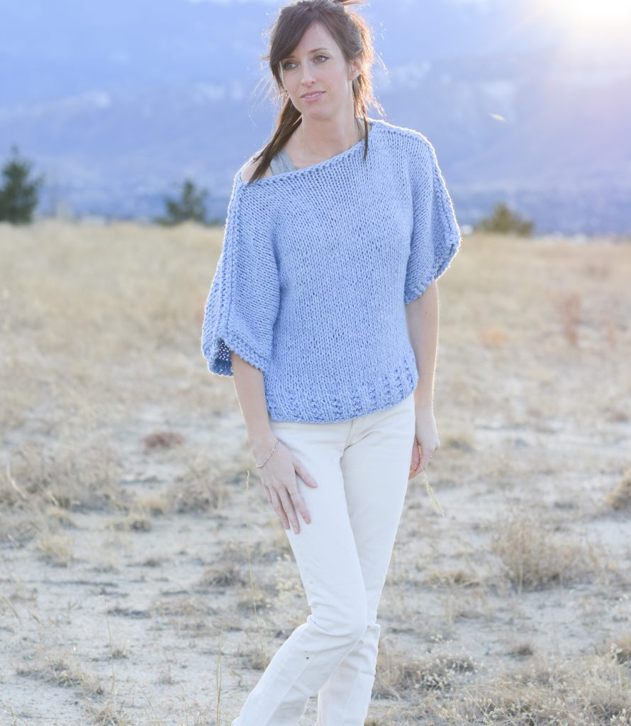 boxy-knit-t-shirt-sweater-beginner-pattern-lion-brand-jeans-yarn-1