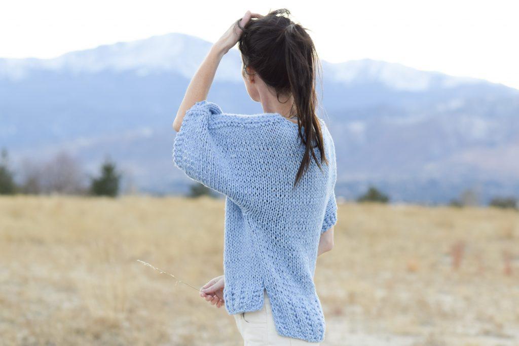 boxy-knit-t-shirt-sweater-beginner-pattern-lion-brand-jeans-yarn-2