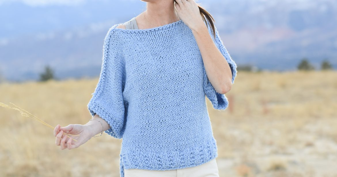 Easy Knit Boxy T Shirt Jeans Pattern Mama In A Stitch