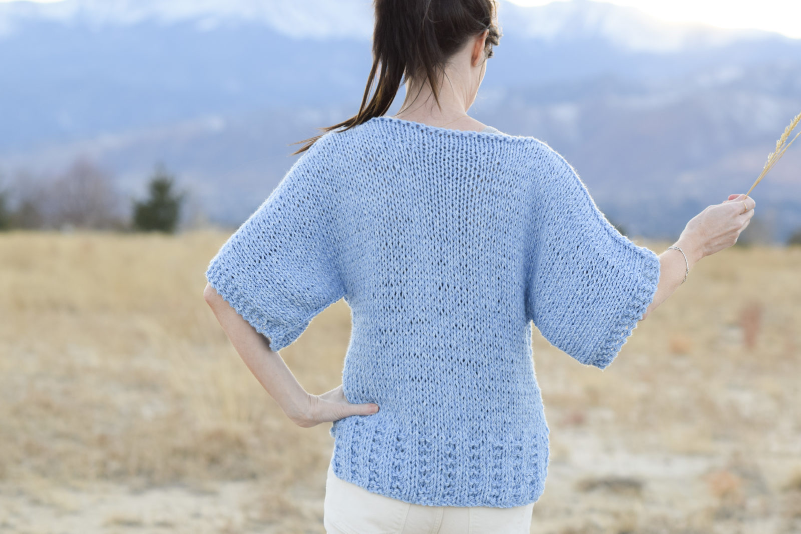 T Shirt Knitting Pattern : Easy Knit Boxy T Shirt