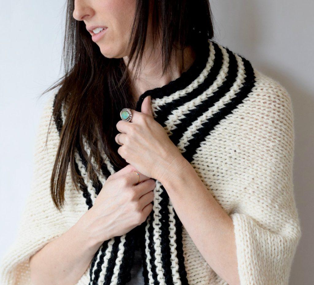 Classic Stripe Easy Knit Sweater (Blanket Sweater)