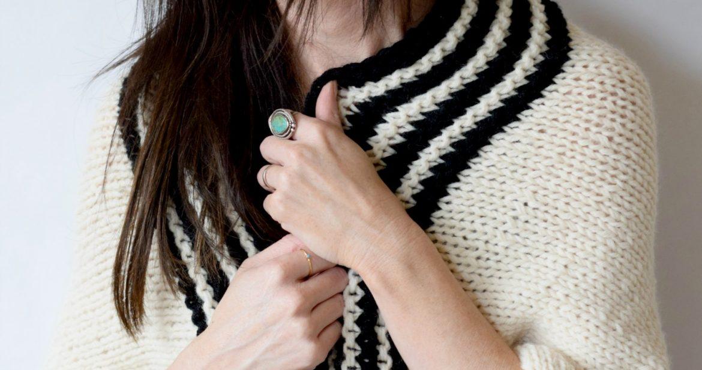 Classic Stripe Easy Knit Sweater Blanket Sweater Mama In A Stitch