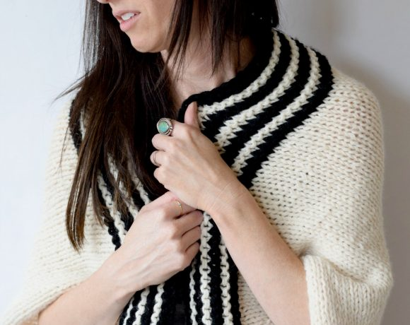 Classic Stripe Easy Knit Sweater (Blanket Sweater)