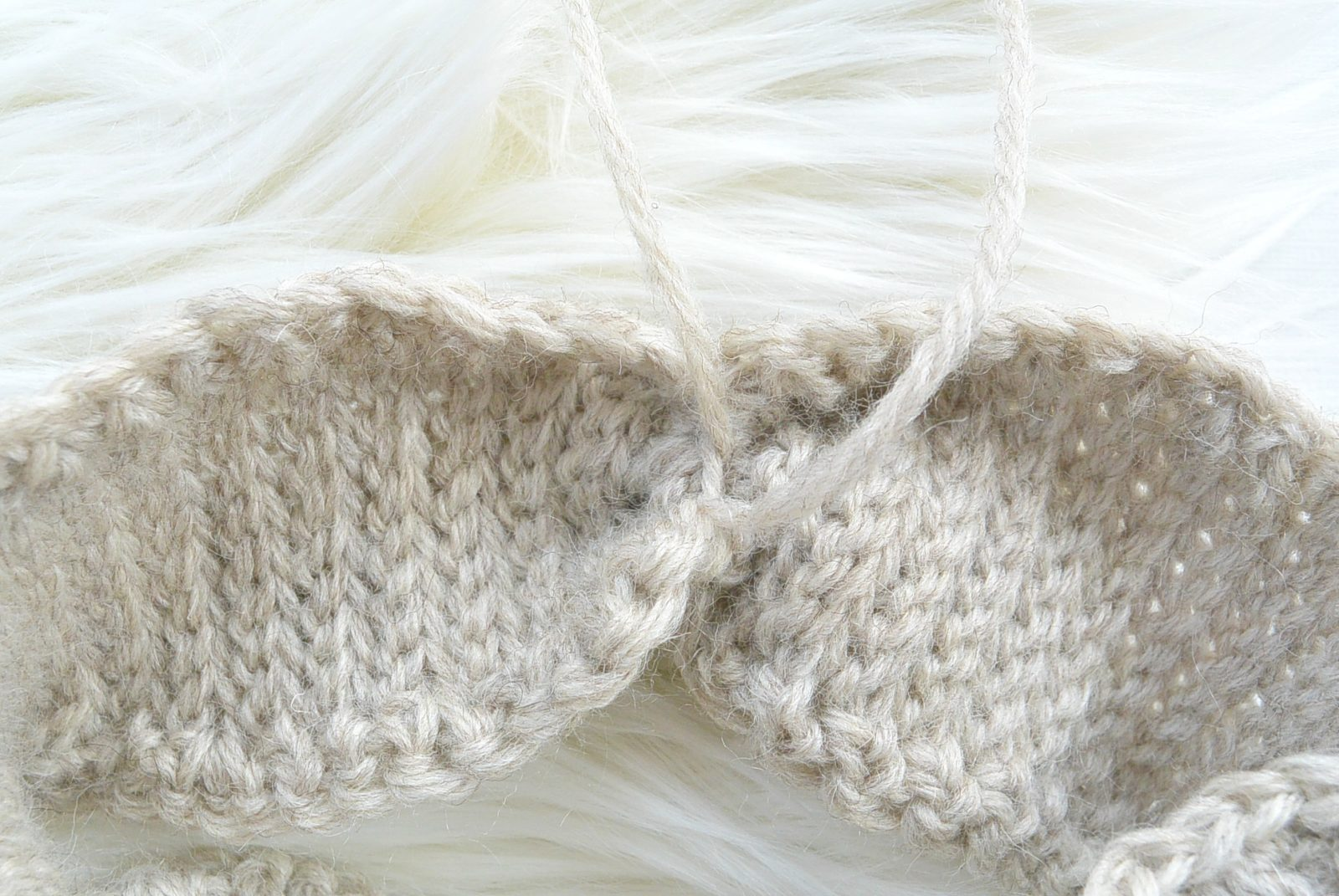 Crocheting Two Ends Together : All cinched up! Tie it off and weave in those ends. Make a separate ...