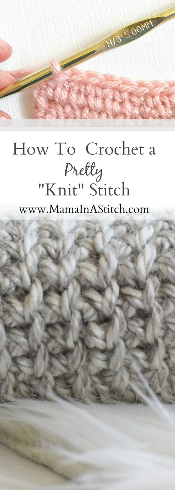 Knit Stitch For Crochet : How To Crochet A