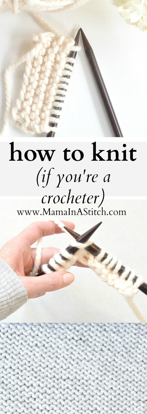 How To Knit (If You Crochet)   Mama In A Stitch
