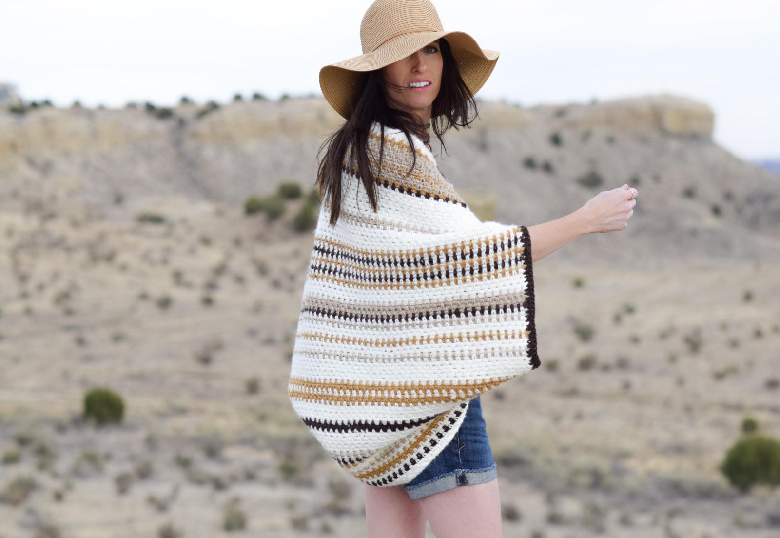 Baja Blanket Sweater Crochet Pattern Mama In A Stitch