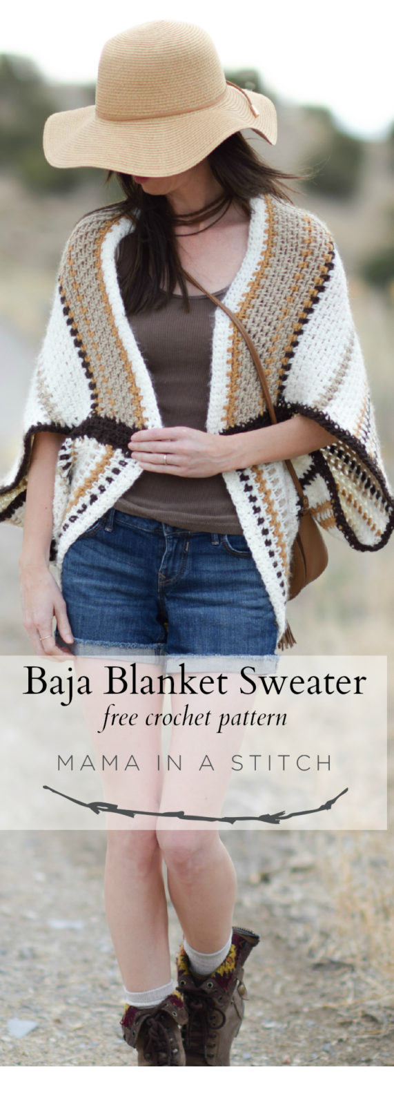 Baja Blanket Sweater Crochet Pattern ? Mama In A Stitch