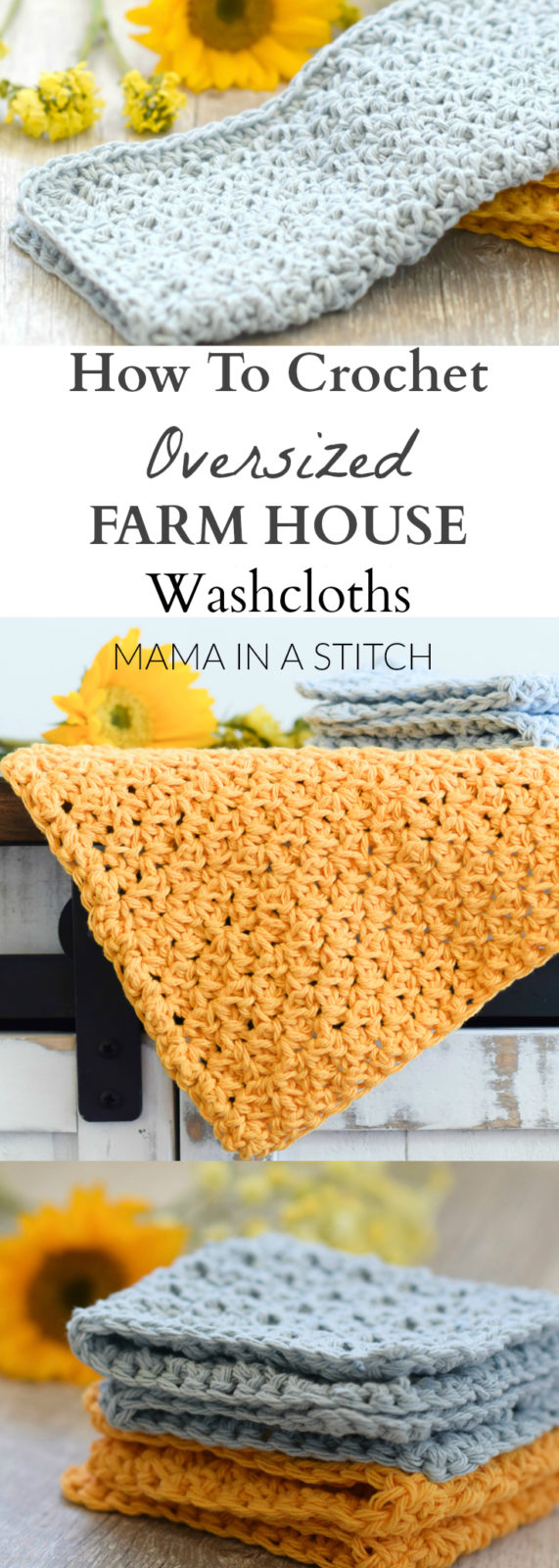 Such an easy and beautiful crochet washcloth pattern! There's also a video tutorial to walk you through how to make it. #summer #crochet #freepattern