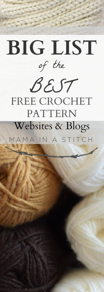 Big List Of Free Crochet Pattern Blogs Websites Mama In A Stitch