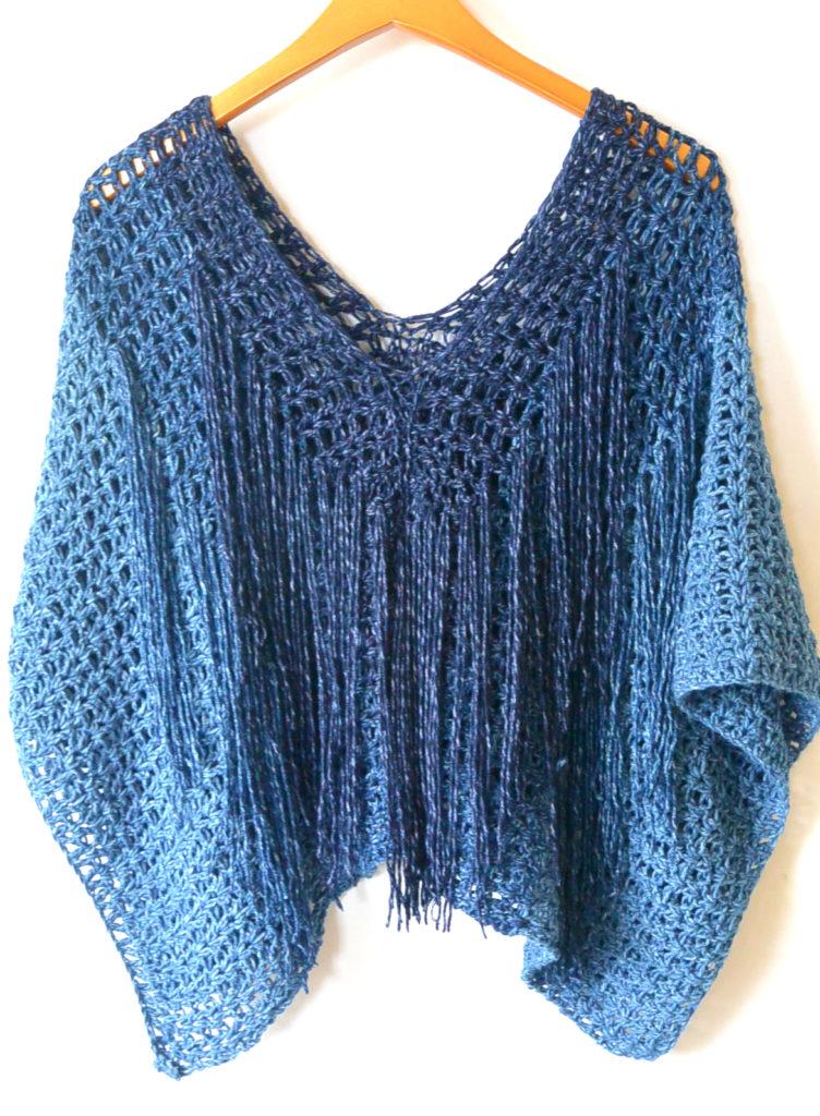 Azul V-Mesh Easy Crochet Poncho Pattern ? Mama In A Stitch