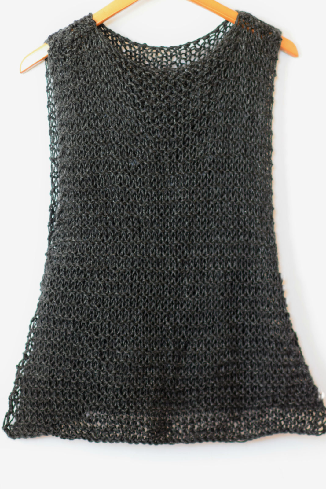 Easy Little Black Tank Top Knitting Pattern Mama In A Stitch