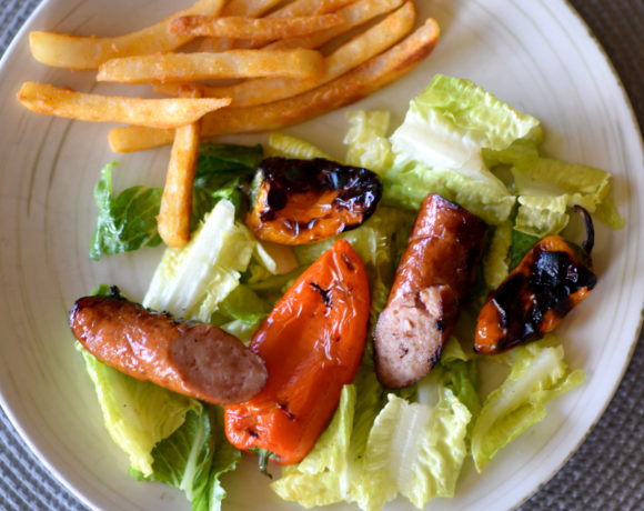 Easy Grilled Kielbasa & Pepper Salad