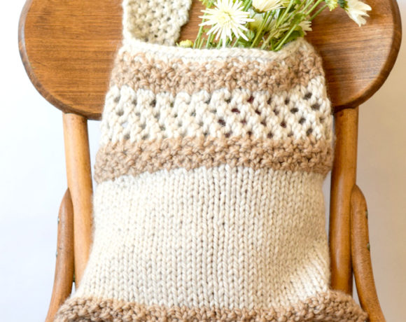 Knitting Pattern Farmers Market Tote