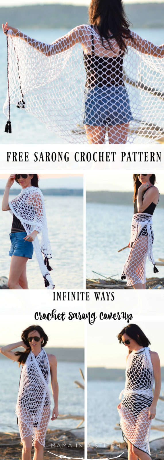 Crochet Cover Up Pattern Infinite Ways Sarong Mama In A Stitch