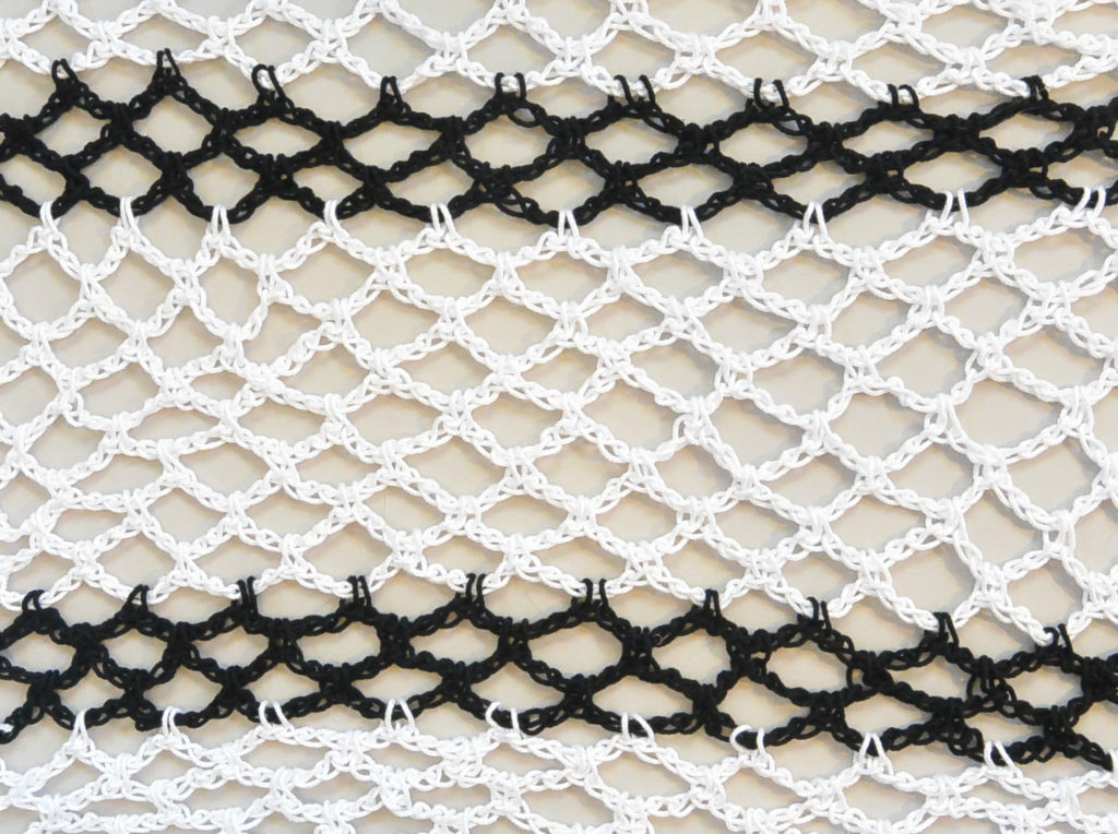 How To Crochet Diamond Mesh Stitch
