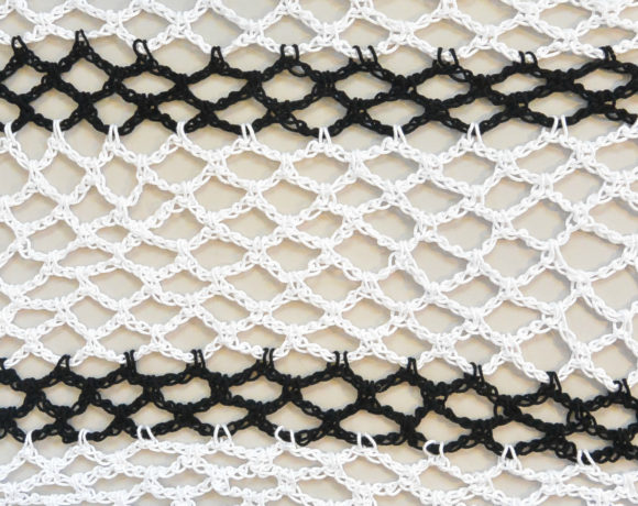 How To Crochet Diamond Mesh Stitch