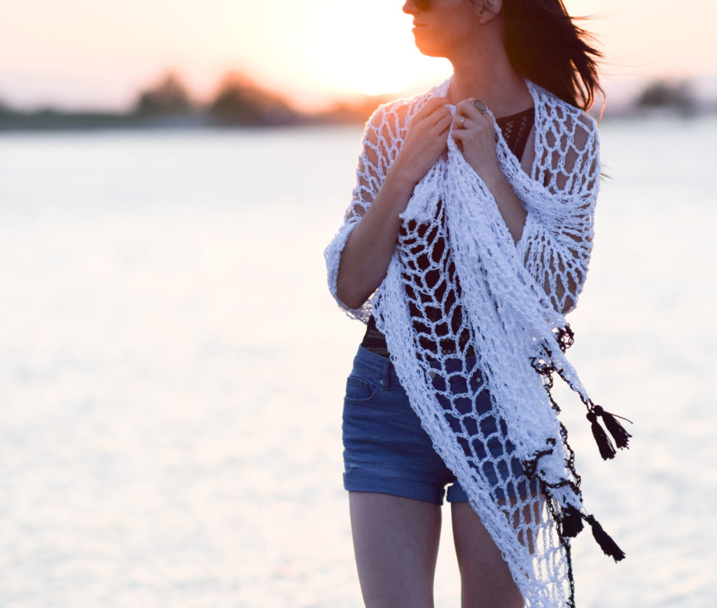 "Crochet Cover-Up Pattern ""Infinite Ways"" Sarong"