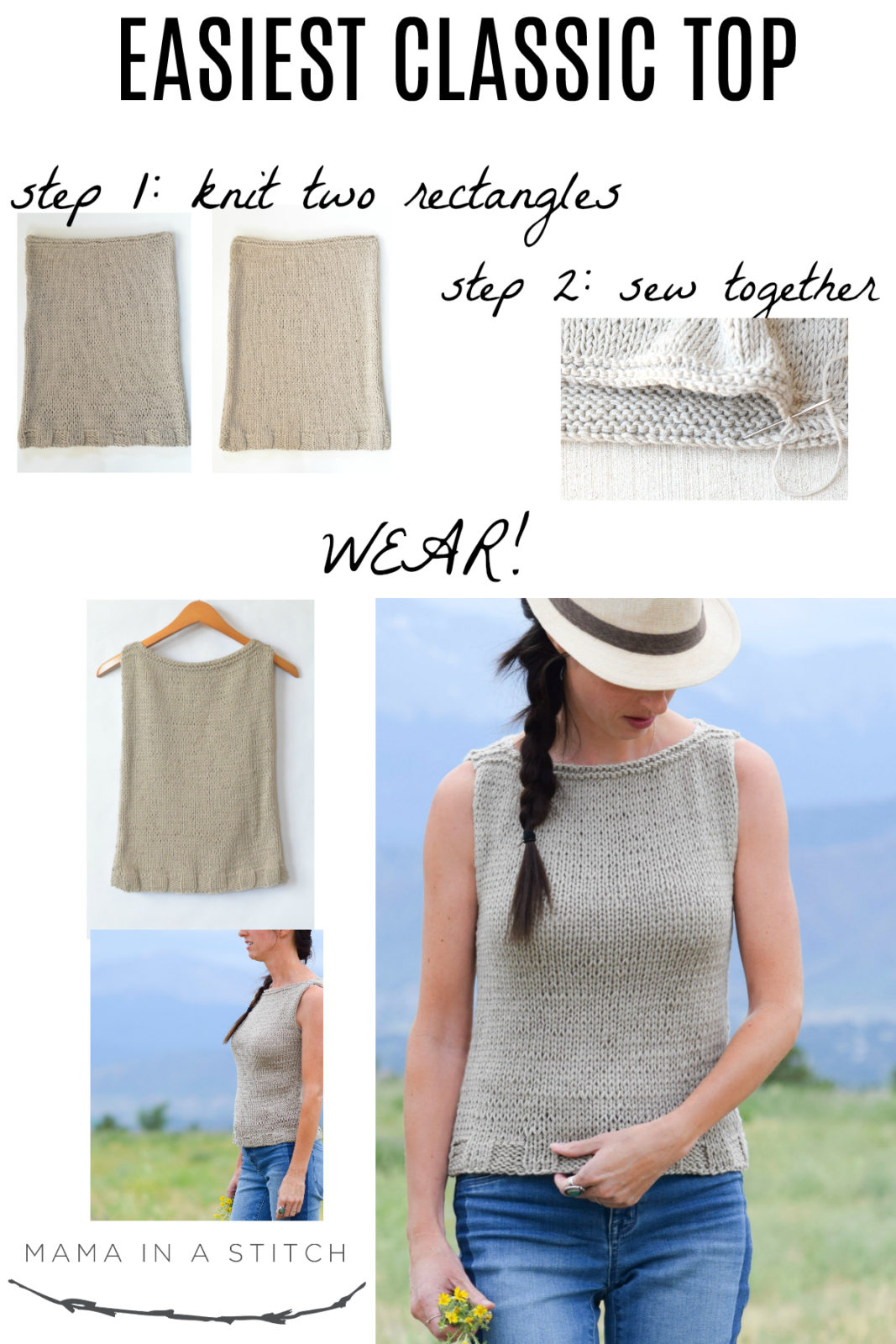 Easiest Classic Knit Top Pattern – Mama In A Stitch