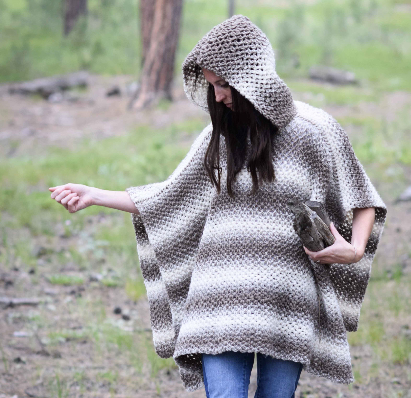 Driftwood Oversized Crochet Hooded Poncho Pattern – Mama In A Stitch