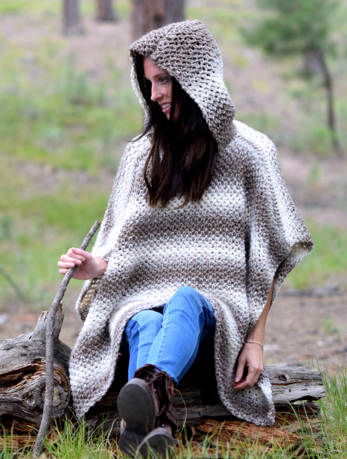 291060ef3626e Driftwood Oversized Crochet Hooded Poncho Pattern – Mama In A Stitch