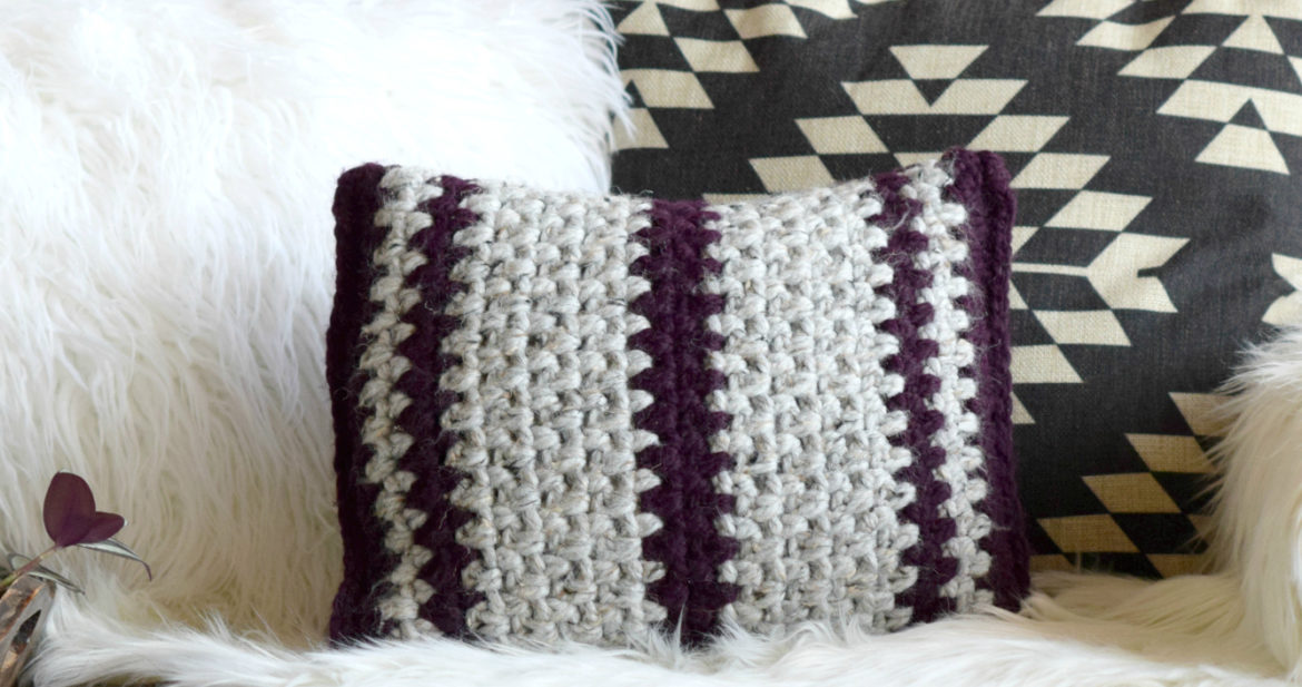Taos Crochet Throw Pillow & Wool Ease Yarn – Mama In A Stitch