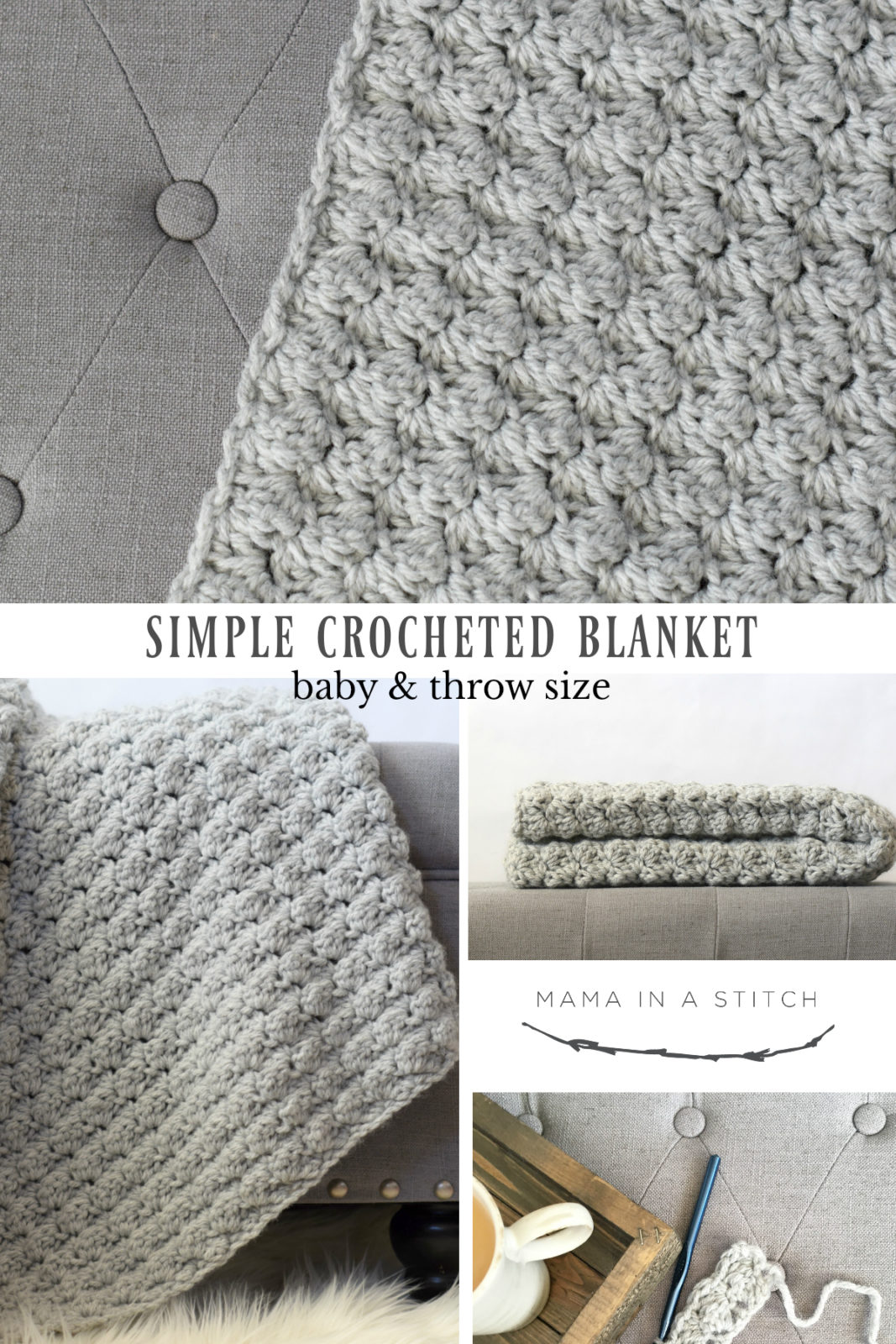 41e75da8e764 Simple Crocheted Blanket Go - To Pattern – Mama In A Stitch