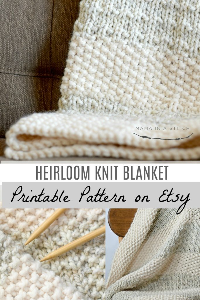 photo regarding Free Printable Knitting Patterns for Baby Blankets referred to as Basic Heirloom Knit Blanket Behavior Mama In just A Sch
