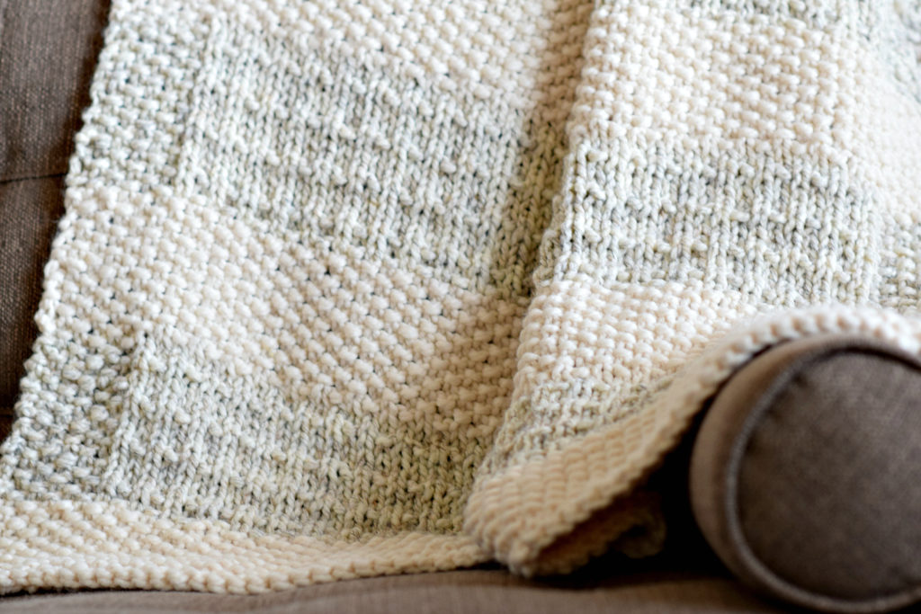 Knitting Pattern Blanket Throw : Easy Heirloom Knit Blanket Pattern   Mama In A Stitch
