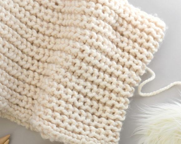 How to Knit Half Fisherman Rib Stitch