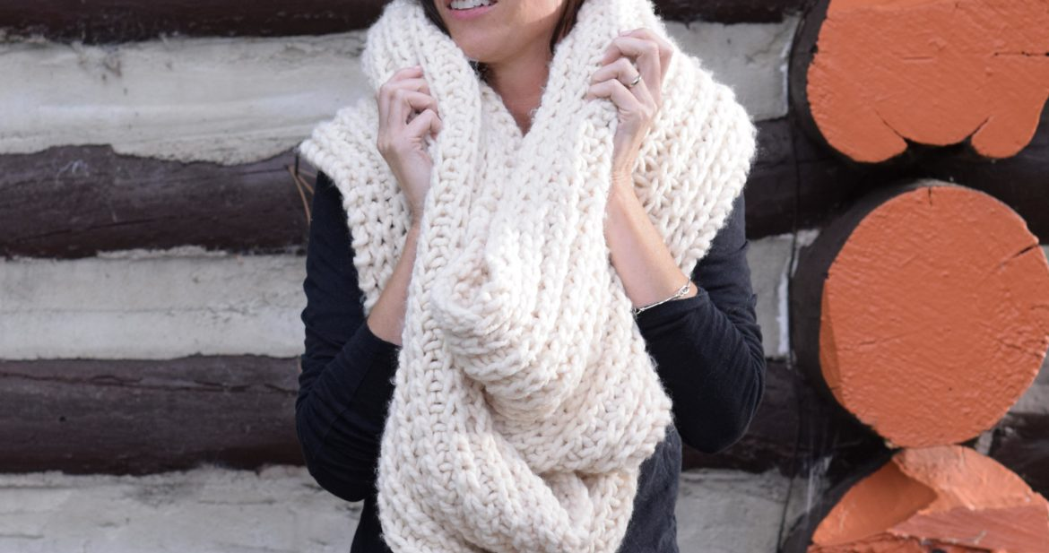 348da6381 Big Knit Scarf Pattern – Mama In A Stitch