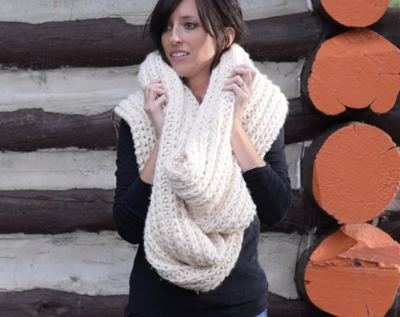 Big Knit Scarf Pattern