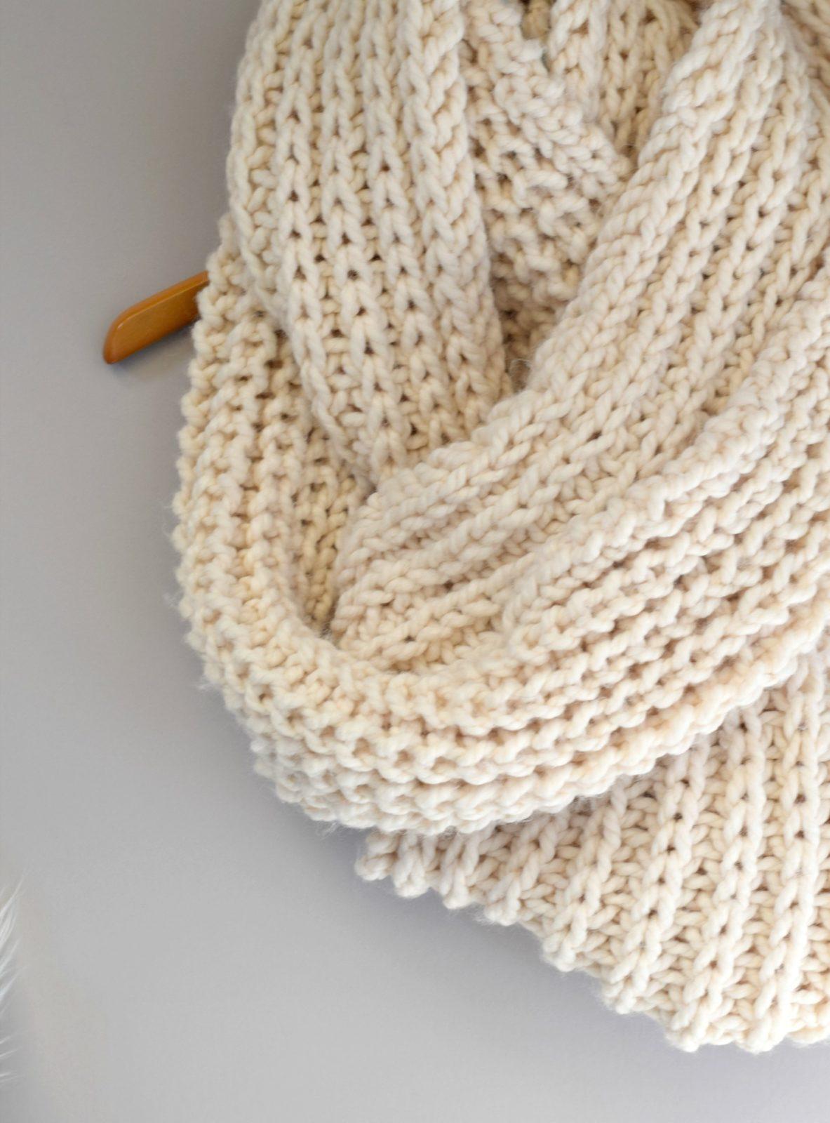 Big Knit Scarf Pattern - Mama In A Stitch