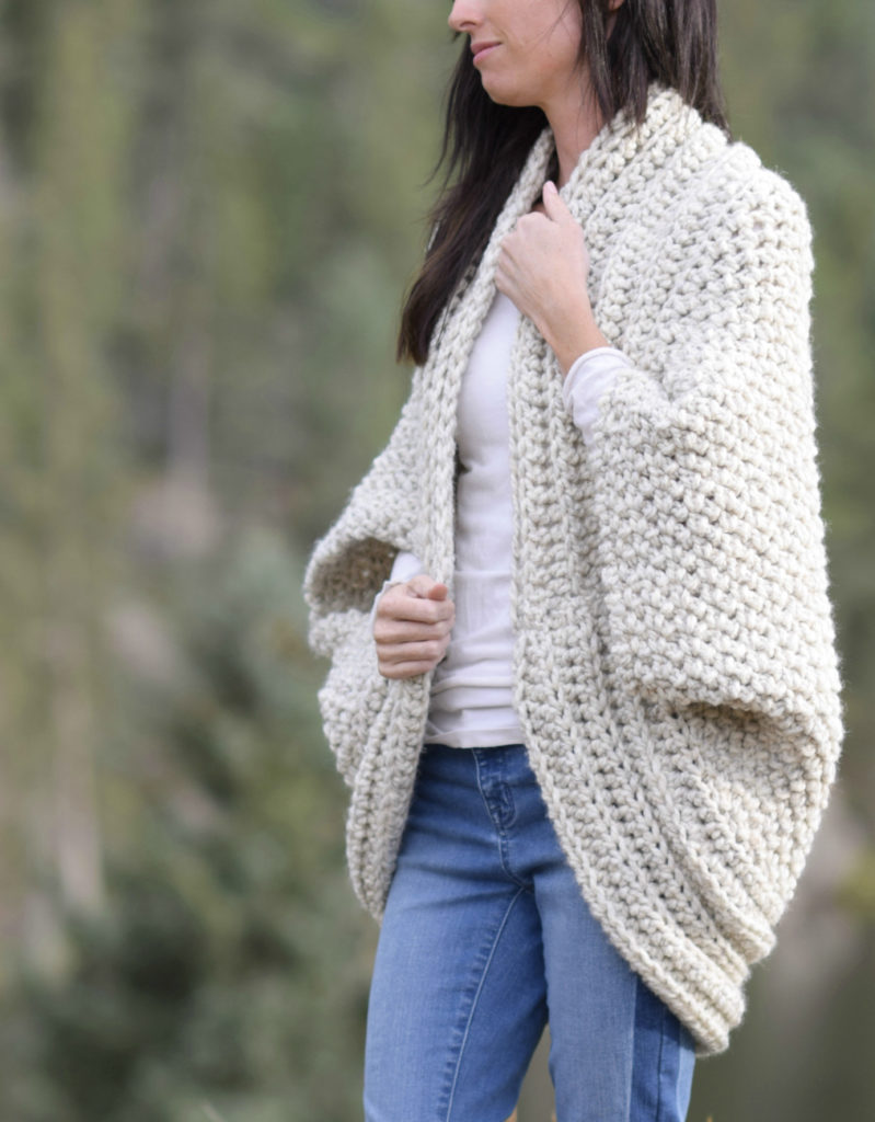 e3d7ee0c0151 Oh my – I am SO excited to share this new crocheted blanket cardigan with  you today! Of all of the blanket sweaters that I ve made