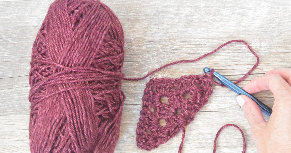 How To Crochet An Easy Granny Triangle Mama In A Stitch